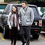 Jennifer Garner walked with Ben Affleck back to the car.