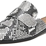 XYD Slip-On Snake Print Loafer Flats
