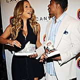 Mariah Carey and Nick Cannon had a laugh together at the Project Canvas Exhibition & Art Gala in NYC.