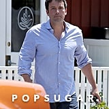 Ben Affleck made his way to his car in LA.