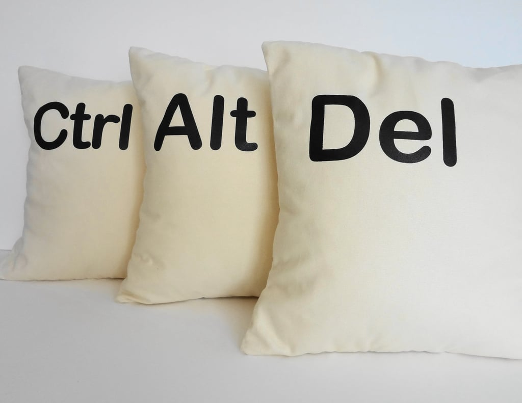 Ctrl Alt Del Throw Pillow Covers