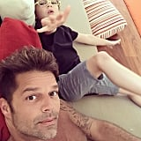 Ricky Martin's Family Pictures