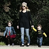 Nicole Richie hung out with her mini-mes, daughter Harlow and son Sparrow, during a nature walk in LA in February 2011.