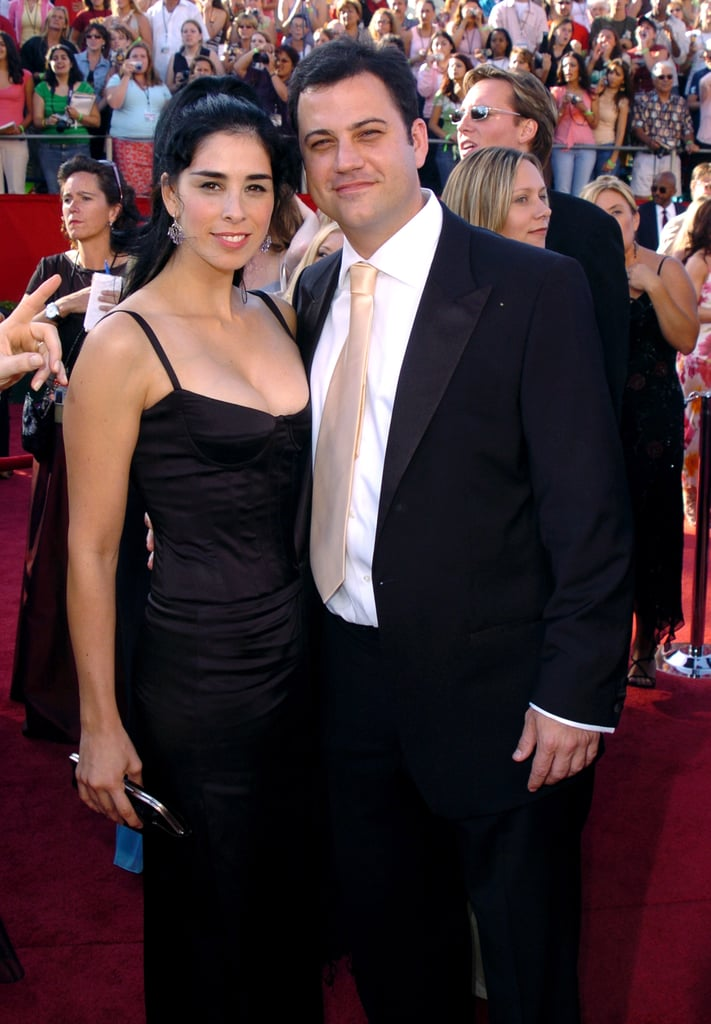 Sarah Silverman and Jimmy Kimmel attended the Emmy Awards together in 2004.
