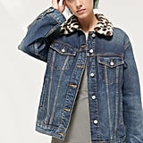 BDG Betty Faux Fur Collar Denim Trucker Jacket