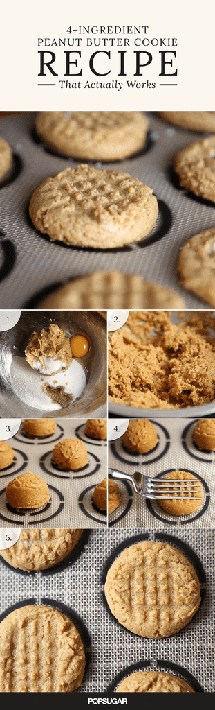 4-Ingredient Peanut Butter Cookies