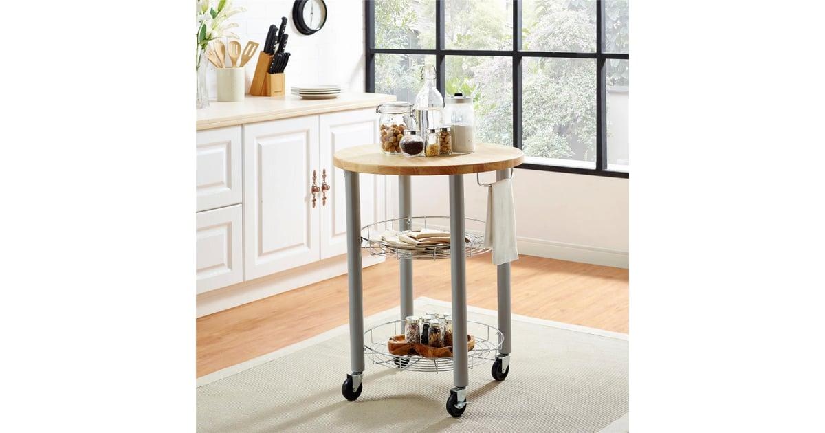 Elza Round Kitchen Cart   Best Target Kitchen Furniture ...