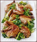 Sunday Dinner: Mascarpone-Stuffed Roast Chicken with Spring Herb Salad