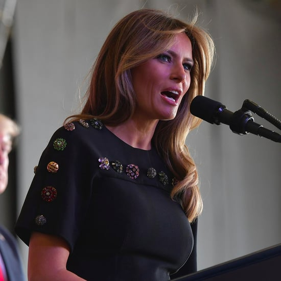 Melania Trump Wears Dolce and Gabbana Dress in Italy