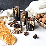 Black and Gold Candle Holder Set