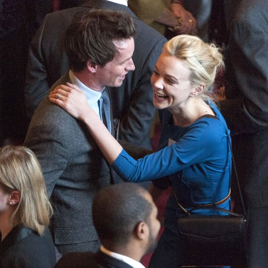 Carey Mulligan and Eddie Redmayne Meet the Queen (Photos)