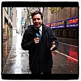 JImmy Fallon reported from New York City's empty streets. Source: Instagram user jimmyfallon