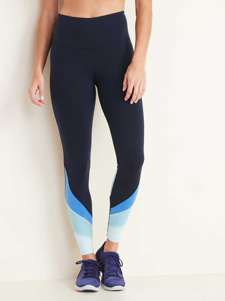 Old Navy High-Waisted Color-Blocked Elevate 7/8-Length Leggings