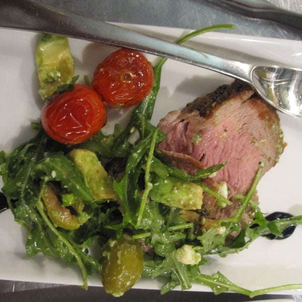 Pork Tenderloin With Arugula Salad Recipe