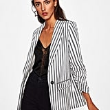 Shein Shawl Collar Stripped Boyfriend Blazer