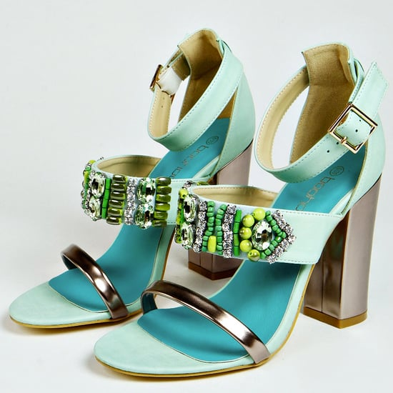 Beaded Metallic Sandals by Boohoo For Boho Summer Fashion