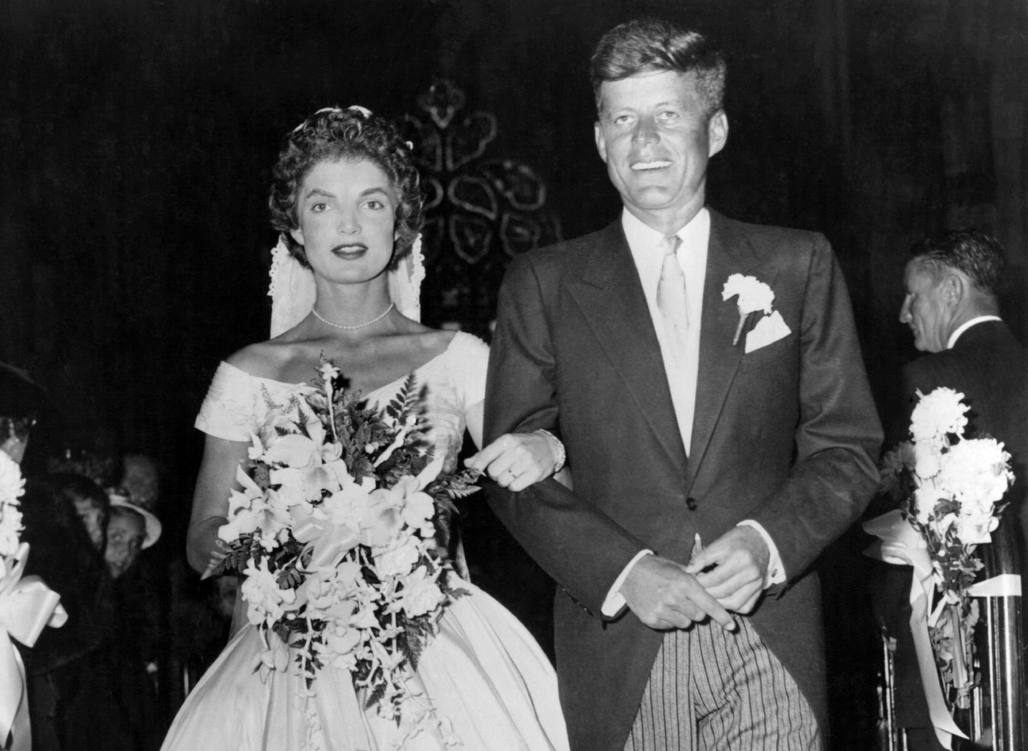 Jackie and john f kennedy wedding details popsugar celebrity 12 marks the 64th anniversary of jackie and john f kennedys wedding and the special day has brought up renewed interest in the couples nuptials junglespirit Gallery