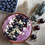 This blueberry, blackberry, and cherry smoothie bowl screams Summer. We love that this Instagrammer added lots of seeds and nuts for a healthy dose of protein and good fat.