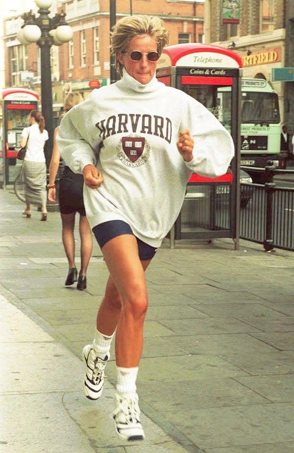 Princess Diana Wearing a College Sweatshirt in 1997