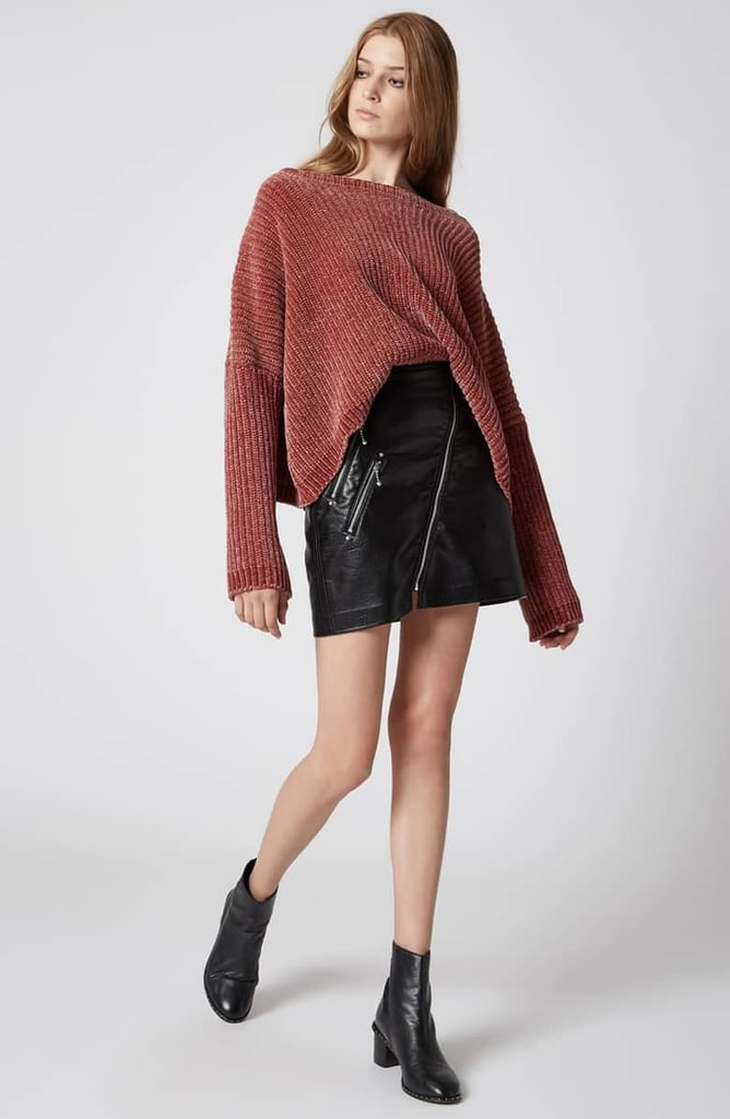 BLANKNYC Chenille Off the Shoulder Sweater