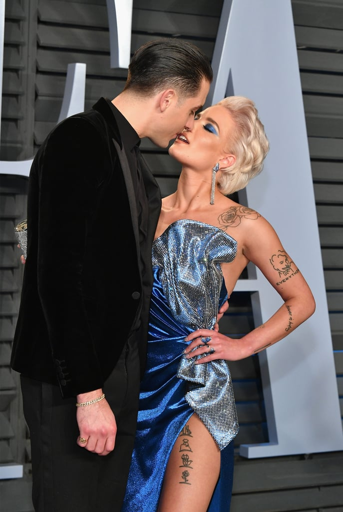 "The Oscars was full of sweet celebrity couples, but few can compare to Halsey and G-Eazy's PDA-filled date night. On Sunday, the couple put their romance on full display as they attended the Vanity Fair afterparty. After kissing in front of the cameras on the red carpet, the two shared an intimate moment inside as the ""Him & I"" singer playfully touched G-Eazy's face. Aww! See their best pictures from the night ahead."