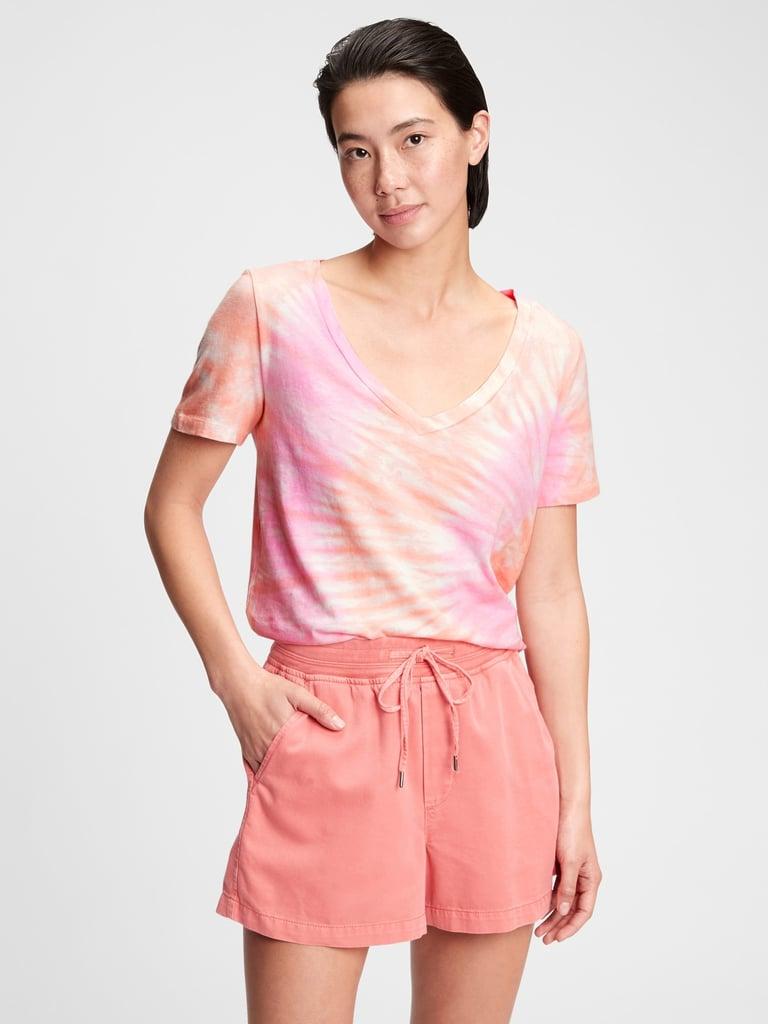 Gap Organic Vintage Tie-Dye V-Neck T-Shirt