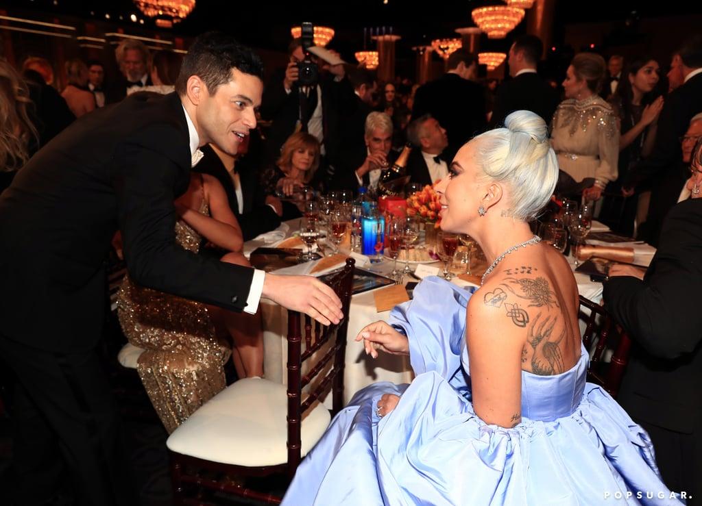 Pictured: Rami Malek and Lady Gaga