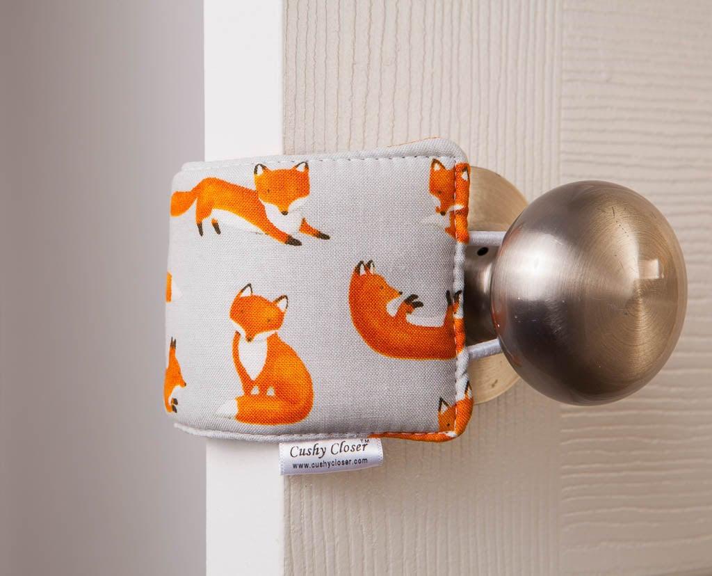 Cushy Closer Fox Print Door Cushion & Cushy Closer Fox Print Door Cushion | Animal-Print Nursery Decor ...