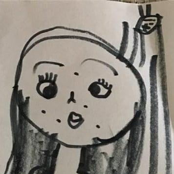 Girl's Illustration of Mom in the Shower