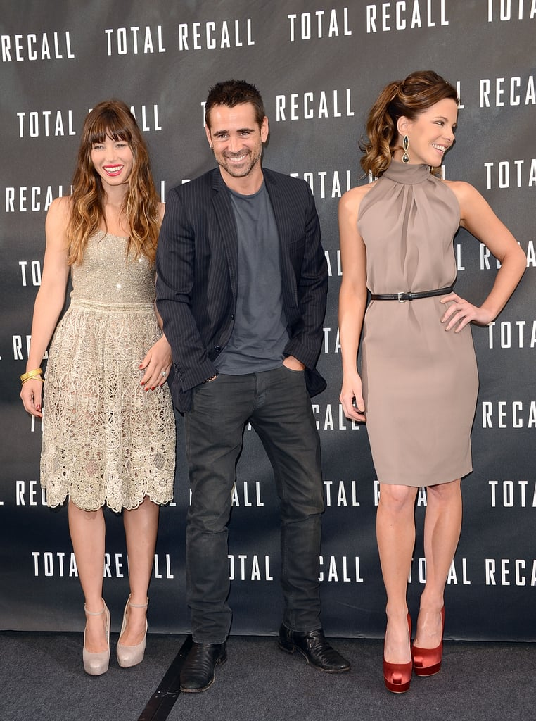 Jessica Biel And Kate Beckinsale Go On For The La Photocall For Total Recall