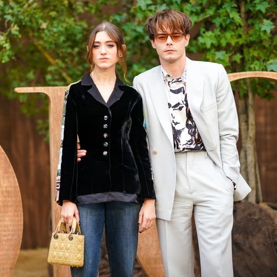 Natalia Dyer and Charlie Heaton at the Dior Show in Paris
