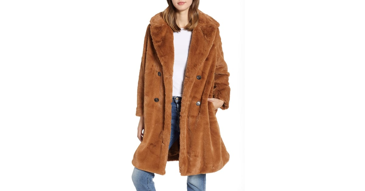 c3be12d74 French Connection Annie Faux Fur Jacket | Nordstrom Half Yearly Sale Coats  | POPSUGAR Fashion Photo 2