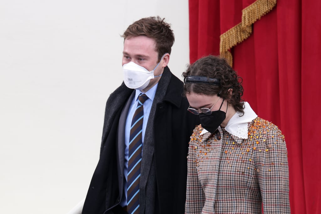 Ella Emhoff's Embellished Miu Miu Coat on Inauguration Day
