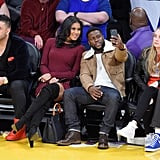 Kevin Hart and Eniko Parrish at LA Lakers Game December 2016