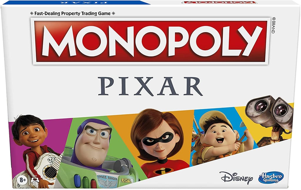 Calling all fans of Toy Story, Onward, and Monsters, Inc!: a brand-new Pixar-themed edition of Monopoly is hitting the shelves, and we have a feeling your kids are gonna love it! Designed for players ages 8 and up, families will make their way around the game board by snagging properties like Nemo's Anemone and Andy's Room. Players also get to choose between various Pixar-inspired pieces, like the house from Up or the animation studio's famous desk lamp, Luxo Jr. Keep reading to get a look at Pixar's new spin on the classic board game and to preorder Monopoly: Pixar Edition for your squad ahead of its Nov. 9 release.      Related:                                                                                                           This Mom's Painfully Funny TikTok Videos Show What Living With a Teen Is Actually Like