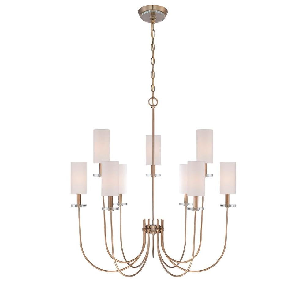Monroe Collection 9-Light Satin Gold Chandelier ($378)