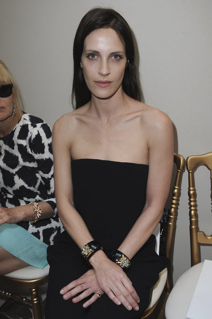 Vanessa Traina in black Maltese Crosses at the Giambatista Valli Fall 2011 Couture show in Paris, just this week. Coco Chanel made the Maltese Cross iconic when she wore a custom Verdura pair in the 1930s — one on each wrist.