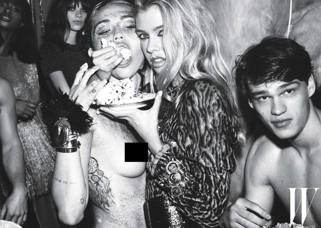 Pictures of Miley Cyrus and Stella Maxwell in W Magazine