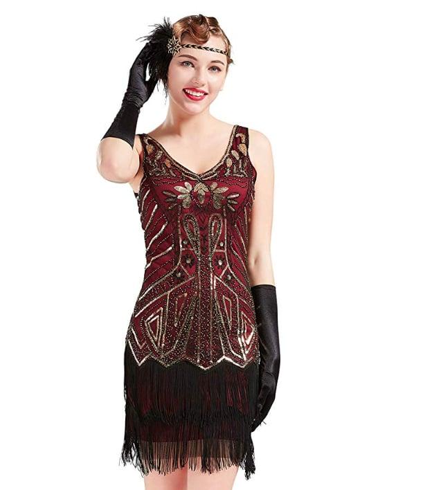 ArtiDeco 1920s Flapper Dress
