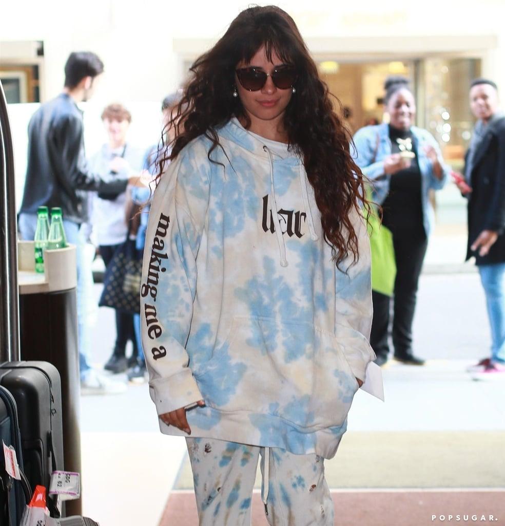 Camila Cabello Wears Her Liar Tie-Dye Sweatshirt in Paris