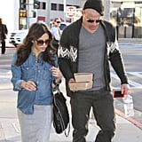 Channing Tatum showed off his freshly buzzed head for lunch with wife Jenna Dewan.