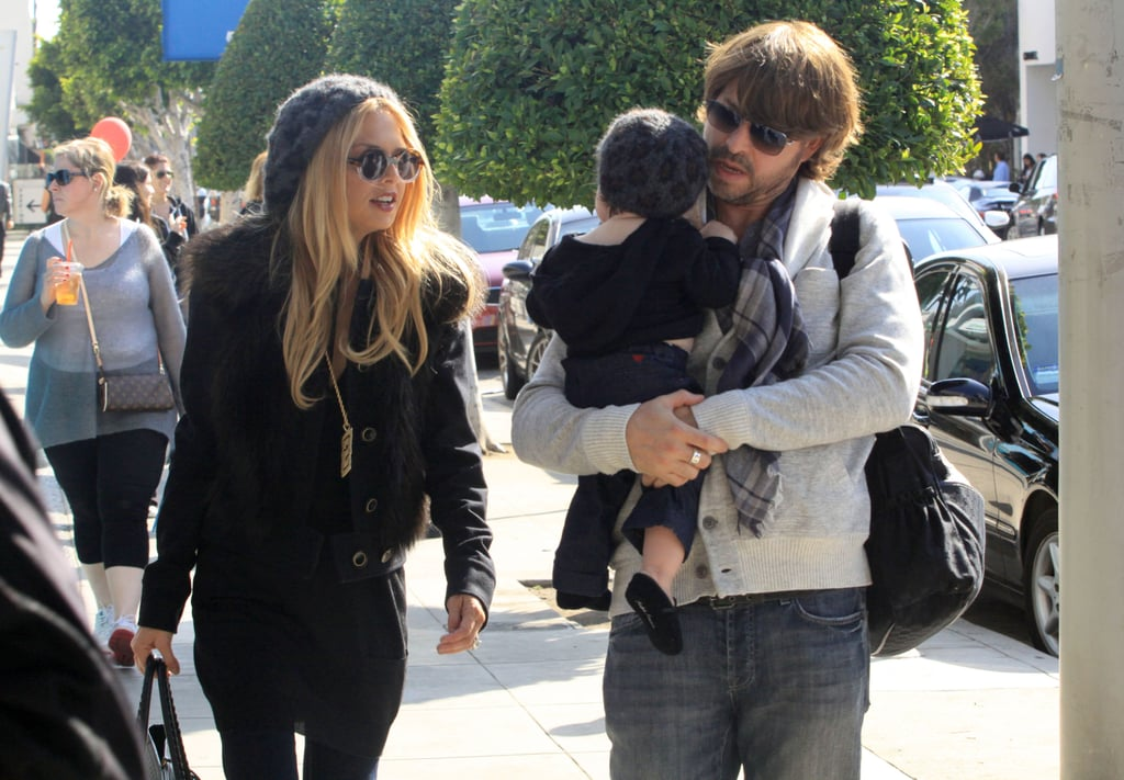 Rachel Zoe and her husband Rodger Berman went out to lunch in LA on Saturday with their son Skyler. The trio stopped for a midday meal at the Newsroom Cafe in West Hollywood, then headed home together. They're all in California following a stay in the Big Apple, where Rachel showed her Rachel Zoe Fall 2012 designs during New York Fashion Week. She also unveiled her window designs for Tiffany & Co.'s Fifth Avenue flagship. It seems Rachel's sitting out on the current crop of London shows, but she likely has some styling work to do in the run-up to the Oscars on Feb. 26. She is fitting in downtime, though, after the craziness of NYC. Rachel and Rodger had a night in yesterday, and he cooked before they sat down to watch Breaking Dawn —Part 1.