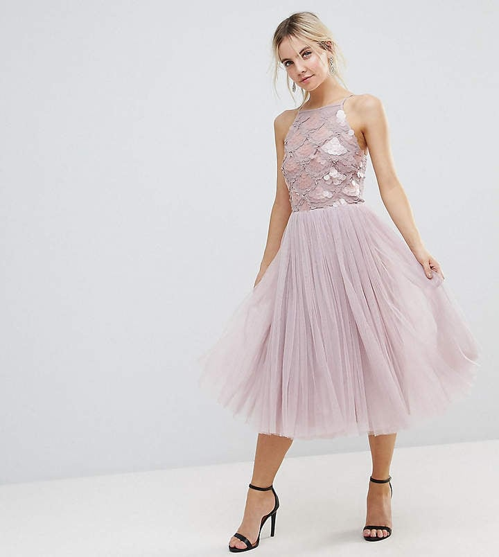 Little Mistress Petite Tulle Dress With Sequin Upper | Best Prom ...