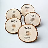 Printable Tree Stump Wedding Seating Chart Cards
