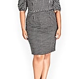 City Chic Check Me Out Sheath Dress