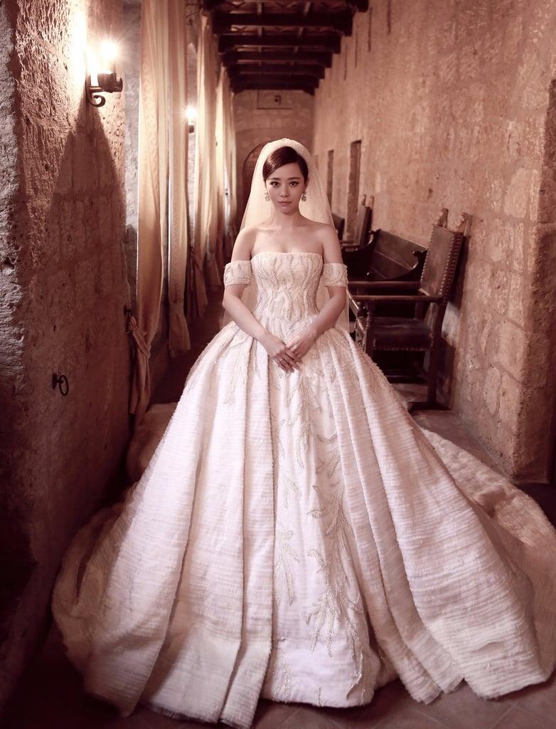 Jane Zhangs Tony Ward Couture Wedding Dress POPSUGAR Fashion - Star Wedding Dress