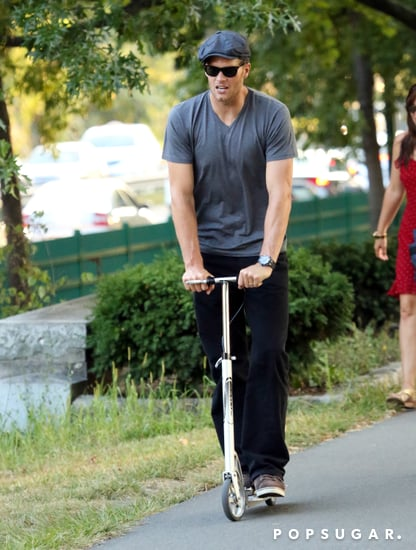 Tom-Brady-followed-his-son-lead-riding-scooter-through-Boston