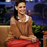 Katie Holmes chats on The Tonight Show.