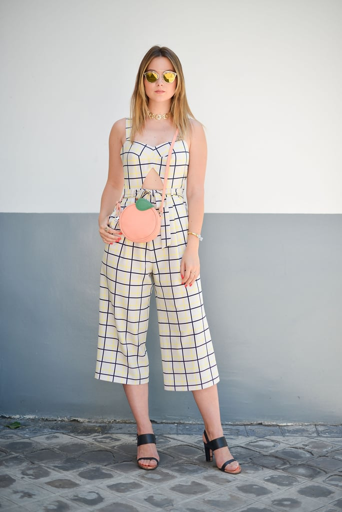 This Asos jumpsuit and purse proves that great fashion can fit any budget.