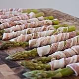 Wrap asparagus in pancetta.